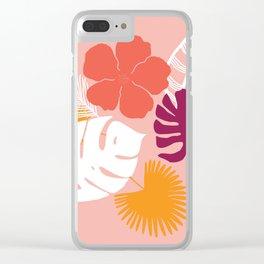 aloha, print Clear iPhone Case