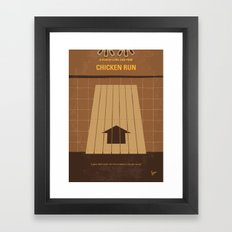 No789 My Chicken Run minimal movie poster Framed Art Print
