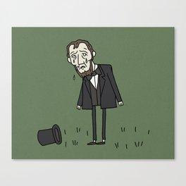 Sad Abe in a Field Canvas Print