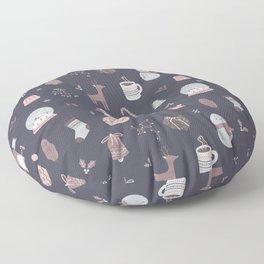 Cozy Christmas - Dark Blue Floor Pillow