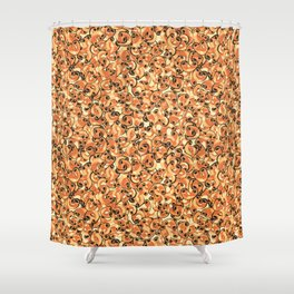 Mac & Cheese Pattern Shower Curtain