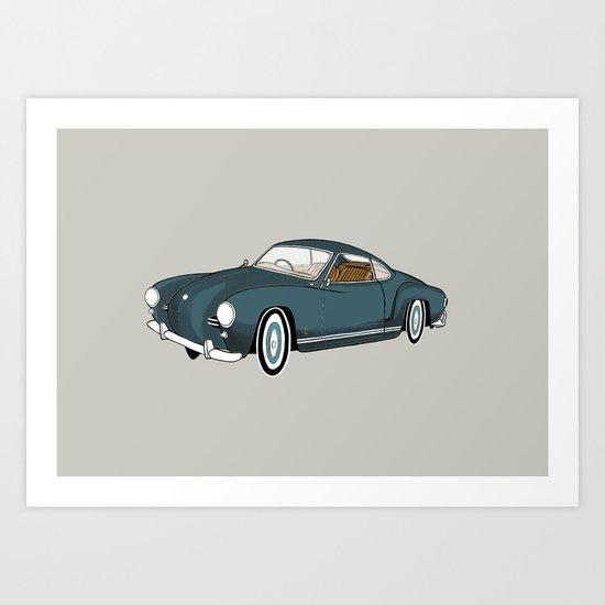 Karmann Ghia Art Print