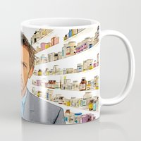 house md Mugs featuring House MD - Colored Pencil Sketch Style by ElvisTR