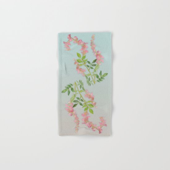 Pink Tiny Flowers Hand & Bath Towel