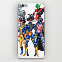 xmen iPhone & iPod Skins featuring Z fighters crossover xmen by Unic art