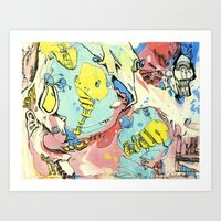 #74 A Piece of Soul in the Yellow Balloon Escaping Velocity Art Print