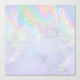 Holographic feather Canvas Print