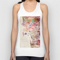 san diego Tank Tops featuring San Diego by MapMapMaps.Watercolors