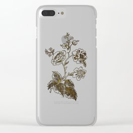 Golden flower Clear iPhone Case