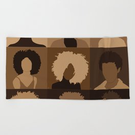 FOR BROWN GIRLS COLLECTION COLLAGE Beach Towel