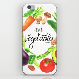 Eat vegetables iPhone Skin
