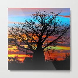 Candy Colour Sunset thru Boab Metal Print