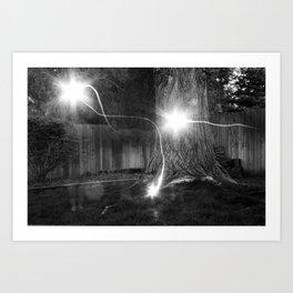 Backyard Ghosts Art Print