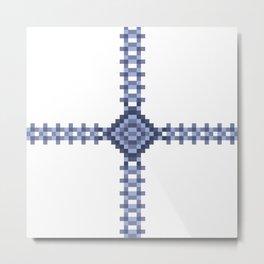 Flower Pixel Lock. Metal Print
