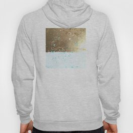 gold, white, mint splotch Hoody
