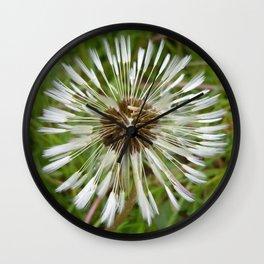 Dandelion In The Rain Wall Clock