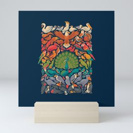 Aerial Spectrum : Blue Mini Art Print