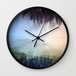 flipped forest Wall Clock
