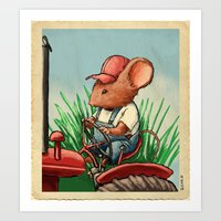 Country Mouse Art Print