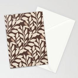 Leaves and Branches in Cream and Brown Stationery Cards