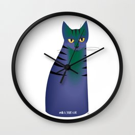 milk bottle cat : Annabell Wall Clock