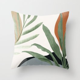 Abstract Art Tropical Leaves 10 Throw Pillow
