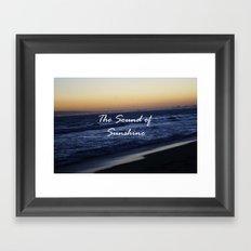 The Sound of Sunshine Framed Art Print