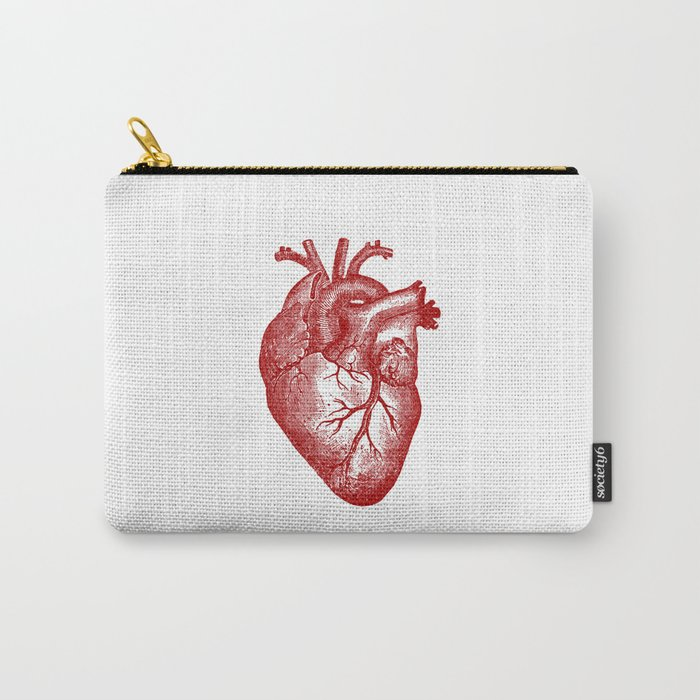 Vintage Heart Anatomy Carry-All Pouch