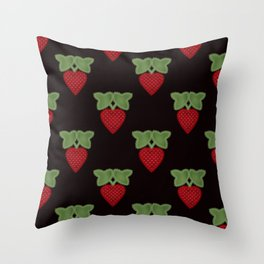 Strawberry fun . Children's colorful pattern . Throw Pillow