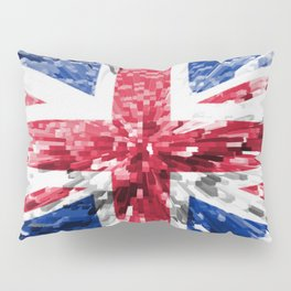 Extruded Flag of the United Kingdom Pillow Sham