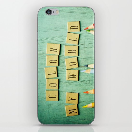 Color My World iPhone & iPod Skin