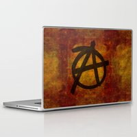 anarchy Laptop & iPad Skins featuring Distressed Anarchy by Bruce Stanfield