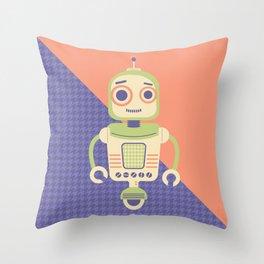 Rob-Bot02 Throw Pillow