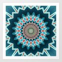Blue And Turquoise Pattern by perkinsdesigns