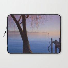 Peaceful Winter Sunset Over The Sea Laptop Sleeve