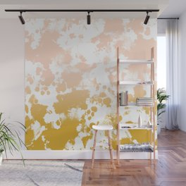 Essie - abstract minimal gold painting metallics home decor minimalist hipster Wall Mural