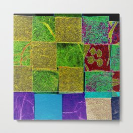 Textured squares Metal Print