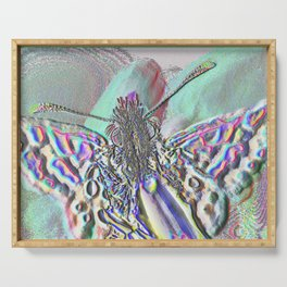 Multichrome Butterfly Serving Tray