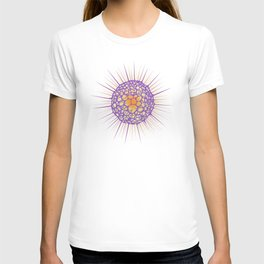 funky sea urchin with heart T-shirt