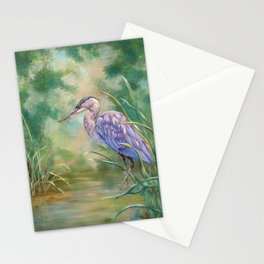 """""""Solitude"""" - Pastel of Great Blue Heron Stationery Cards"""