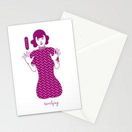 Cheongsam illustration terrifying Stationery Cards