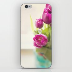 Purple Tulips in a jar iPhone & iPod Skin