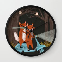 the fox mobile Wall Clock