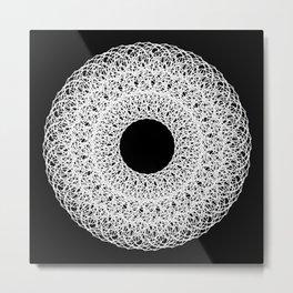 White Mandala Metal Print