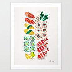 Sushi Collection Art Print