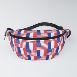 Mix of flag : france and usa Fanny Pack