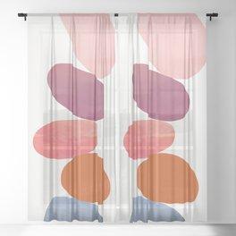 Balancing Stones 23 Sheer Curtain