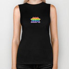 Rainbow Meeple Biker Tank