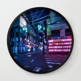 Nakameguro at night, Tokyo Wall Clock