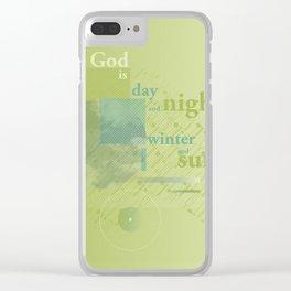 God is #everyweek 5.2017 Clear iPhone Case